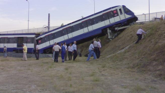 Descarrilamiento de tren de metro
