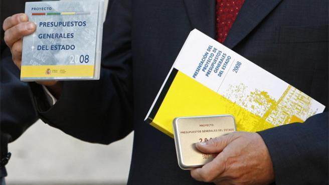 El proyecto de Ley de Presupuestos Generales del Estado para 2008, en el Congreso (Foto: Efe)