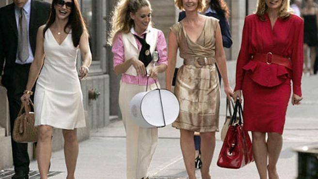 Una de las escenas del rodaje en Park Avenue.