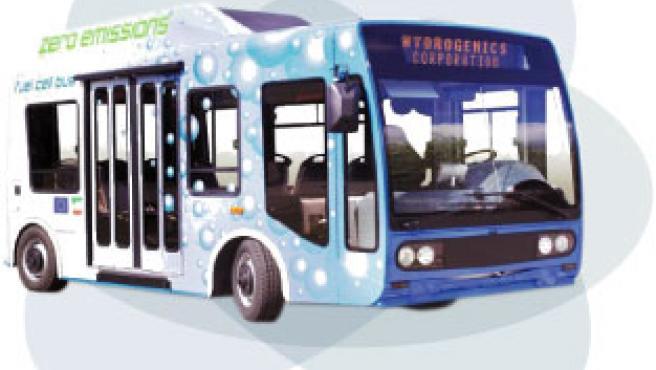 Prototipo de microbus con pilas de combustión de hidrógeno. En Soria circularán dos en 2008.