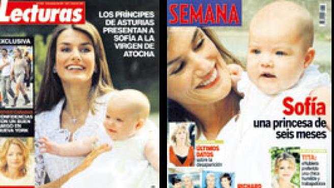 Portadas del corazón publicadas el 26 de septiembre de 2006.