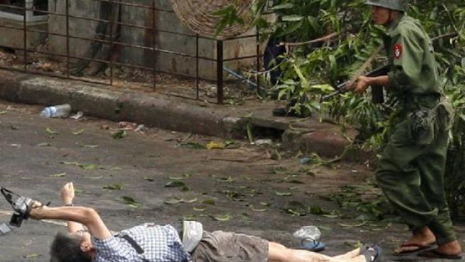 El fotógrafo japonés asesinado por el Ejército (AGENCIAS).