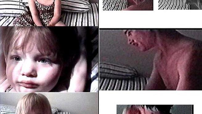 Algunas imágenes del vídeo difundido por la Policía para encontrar a la menor. (EFE)