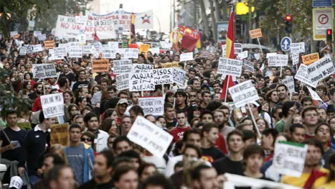 Imagen de archivo de una de las manifestaciones.