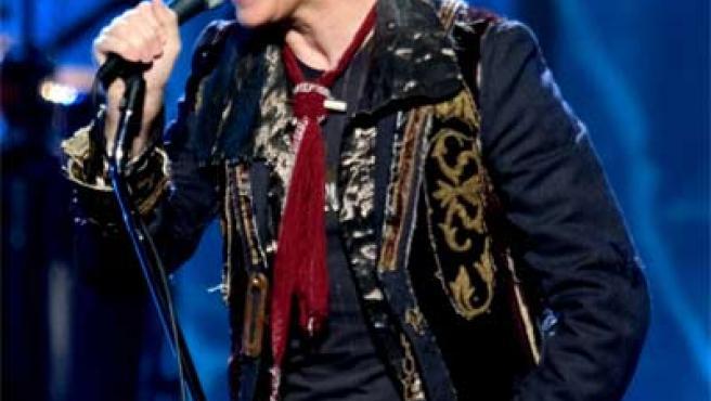 David Bowie, durante una actuación en directo.