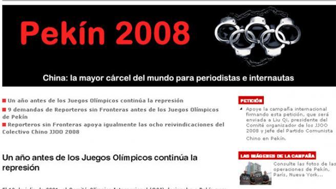 Página web de RSF.