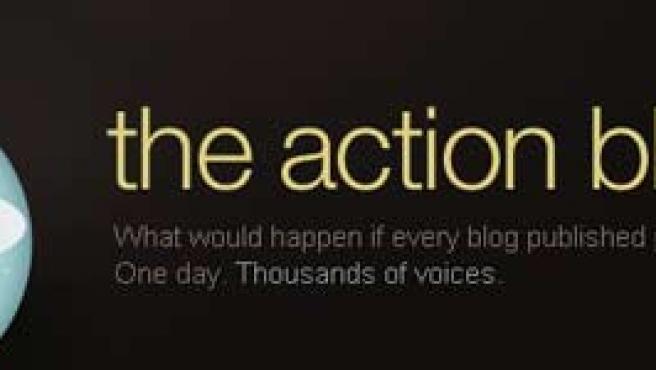 Portada principal de la web del Día de la Acción del Blog.