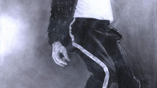 Michael Jackson hace uno de sus habituales movimientos.