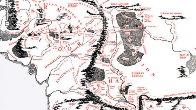 La Geografia De El Senor De Los Anillos A Lo Google Maps