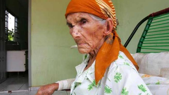 María Olivia da Silva, la mujer más vieja del mundo.
