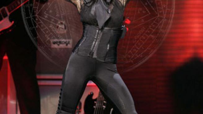 Madonna durante un concierto.