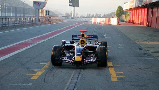 El RB3 de la escudería Red Bull.
