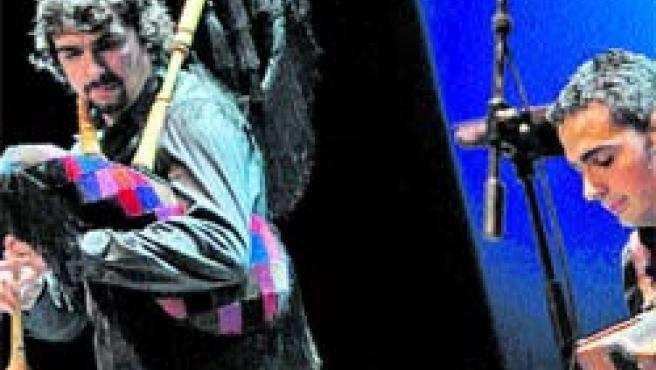 Los hermanos Tejedor rinden homenaje a Nuberu.(Diego Crespo)