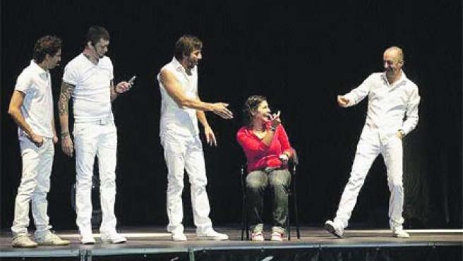 Una escena de Wanted, durante una representación en La Coruña.