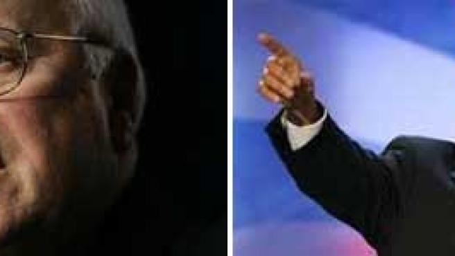 Cheney y Obama, hasta ahora, adversarios.