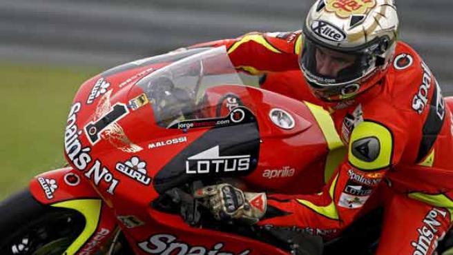 Jorge Lorenzo, durante los entrenamientos del Gran Premio de Malasia. (EFE)