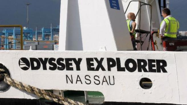 La Guardia Civil, en la cubierta del Odyssey Explorer (EFE).
