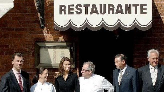 Los Príncipes de Asturias comieron en el Restaurante 'Arzak' el año pasado.
