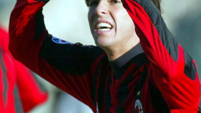 Una imagen de archivo del brasileño del Milan Kaká.