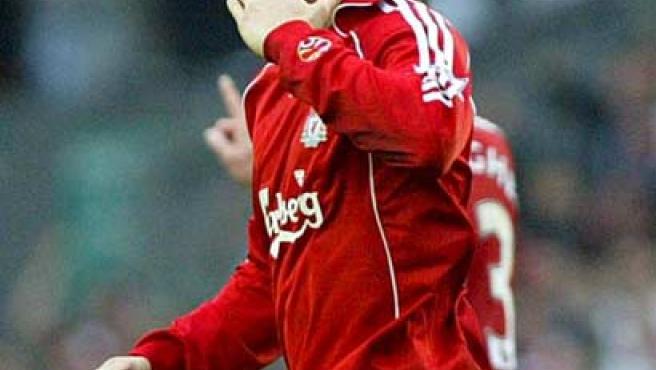 Fernando Torres celebra un gol con el Liverpool (EFE).