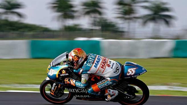 Héctor Faubel durante la carrera de Malasia. (Efe)