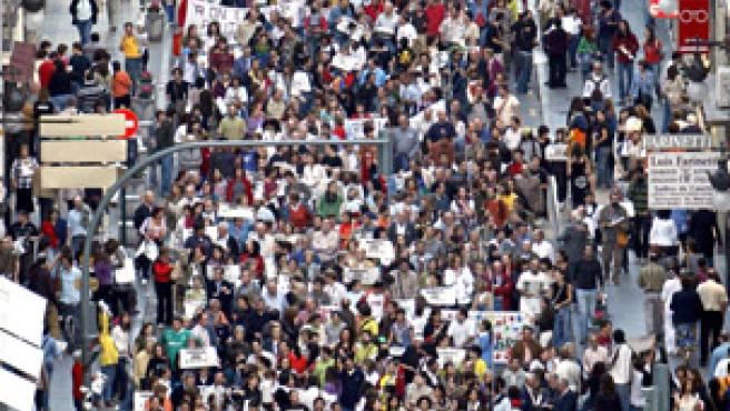 Manifestación contra la pobreza.