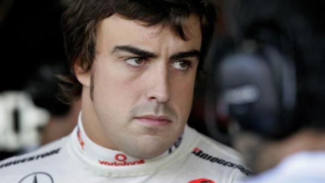 Alonso, con gesto serio.