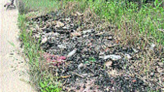En la huerta se acostumbra a quemar la basura. (L. Roda)