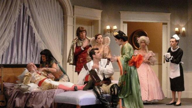 Una escena de la obra Un marido de Ida y vuelta