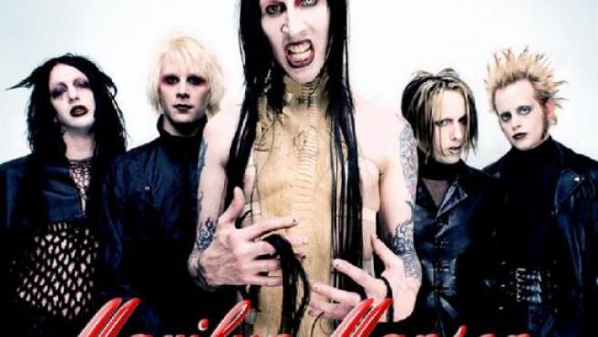 Marilyn Manson y su banda.