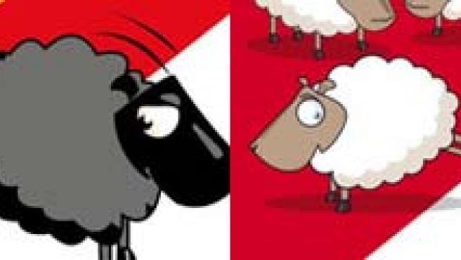 El cartel fue utilizado para la campaña electoral del ganador de las elecciones federeales suizas. (ARCHIVO)