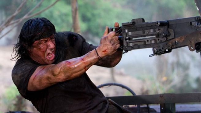 Una imagen de Stallone en el nuevo título de la saga 'Rambo'.