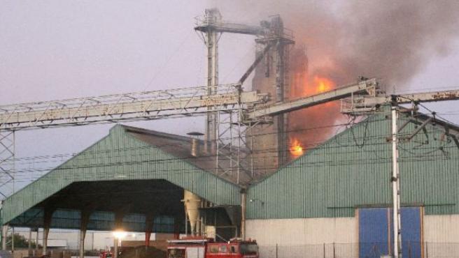 Varias dotaciones de bomberos acudieron hasta el lugar para sofocar las llamas.