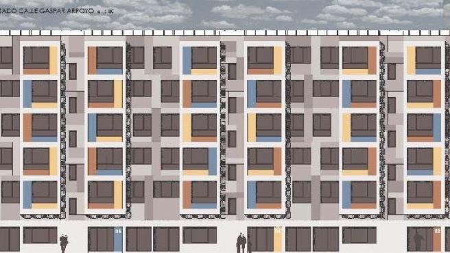 Así serán las nuevas viviendas de Gaspar Arroyo.