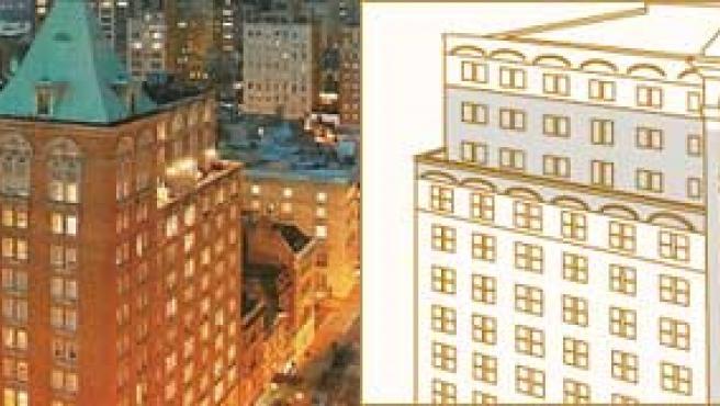 Exterior y plano de plantas de lujo de The Mark Hotel (FOTOS: Bownbest.com / Themarkhotel.com)