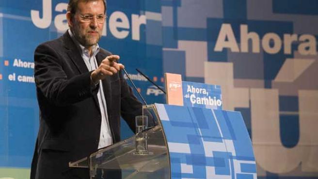 Mariano Rajoy, durante una intervención.