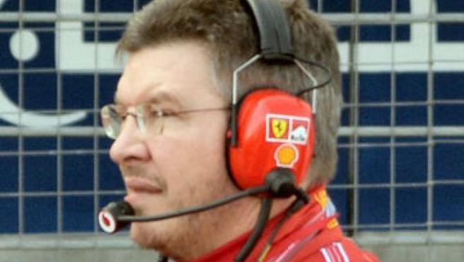 Ross Brawn en su etapa con Ferrari (Internet).