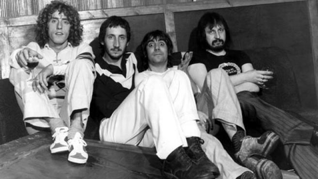 De izquierda a derecha: Roger Daltrey, Pete Townshend y los fallecidos Keith Moon y John Entwistle.