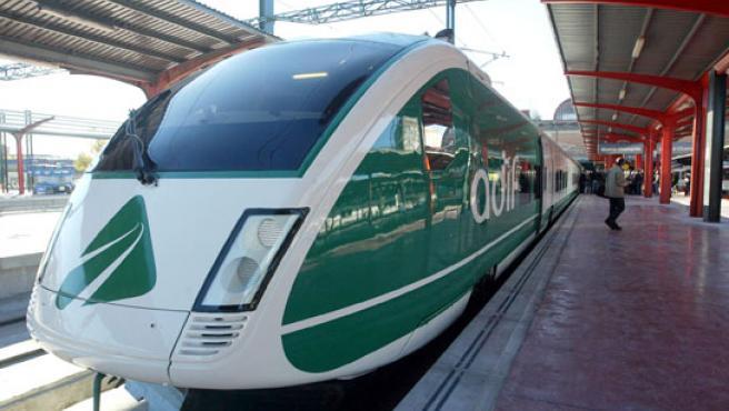 Tren de pruebas que ha realizado el trayecto Madrid-Valladolid.