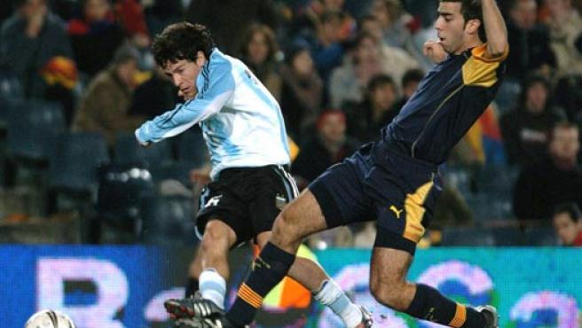 Oleguer, con la selección catalana.