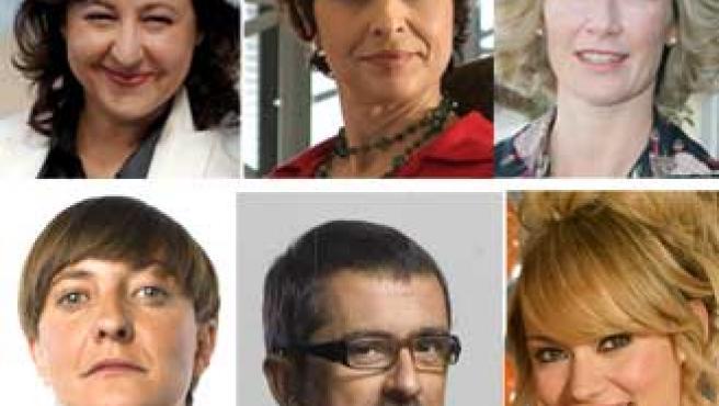 Algunos de los nominados por la Academia de la Televisión.