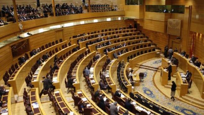 Vista general del pleno del Senado celebrado hoy para la aprobación del nuevo Estatuto. Gustavo Cuevas / EFE.