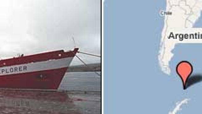 El crucero 'Explorer', en una foto de archivo (Fuente: VG Nett )