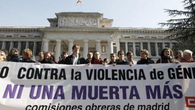 Concentración contra la violencia doméstica en Madrid (EFE).