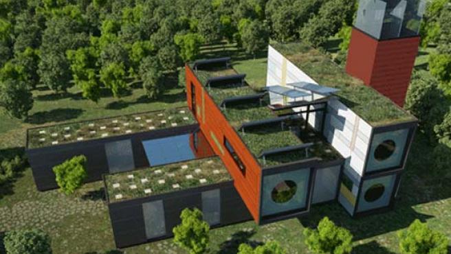 R4Houses, un proyecto de vivienda sostenible basada en los módulos apilables que encontramos en los recintos portuarios.