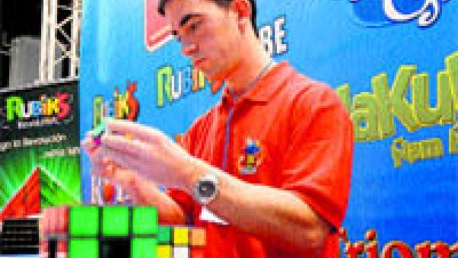 Alejandro Lamas, un dels guanyadors del IV Campionat Nacional de Cub de Rubik (Bricio Segovia).