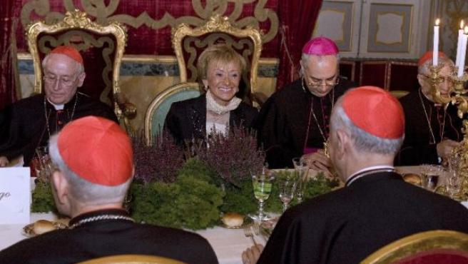 Imagen de la cena a la que no quiso asistir Francisco Camps.