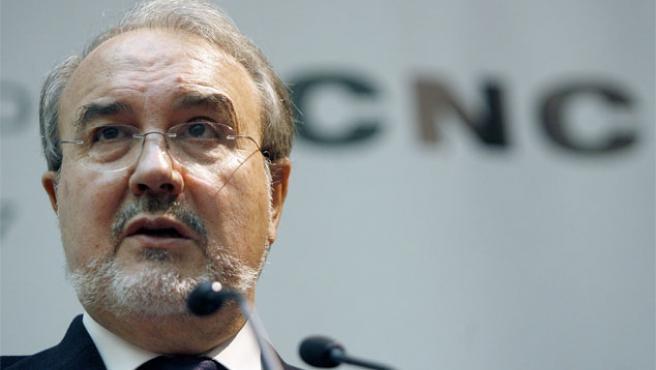 Pedro Solbes, en la primera jornada institucional de la Comisión Nacional de la Competencia (Foto: Efe).