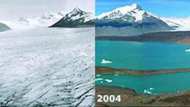 Dos imágenes del mismo lugar en 1928 y 2004. (ARCHIVO)