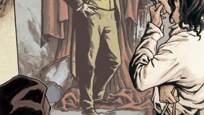 Imagen de la reproducción del cómic de 'El retrato de Dorian Gray'. (EFE).